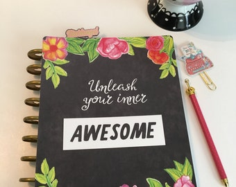 Planner Cover/ Flowers/watercolor