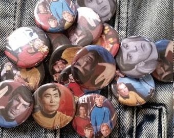 Star Trek Random Fandom- handmade 1-1/4 inch pinback button pin pins buttons pingame badge badges