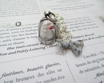 dome vial necklace White Rabbit