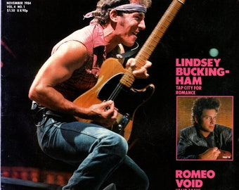 Record Magazine November 1984 Issue Bruce Springsteen Cover