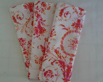 Eye Pillow Free Ear Plugs Orange Pink Cotton Fabric Lavender Flax Seed Bridal Relax Spa Sleepover