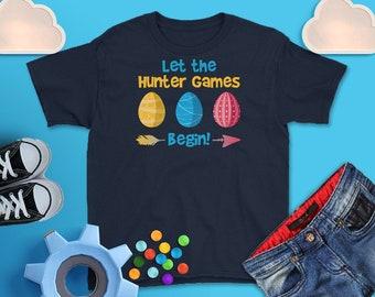 Easter Egg Hunter games begin, Easter Shirt, Kid's Easter Shirt, Youth Easter Shirt, Funny Kid's Shirts, Easter Bunny, Christian