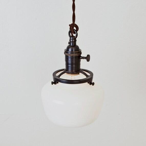 Pendant Light Schoolhouse Shade Switch Socket Hanging Light