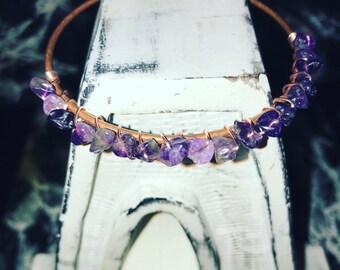 Amethyst Bangle | Natural Gemstone | Bridesmaids Gift | Energy