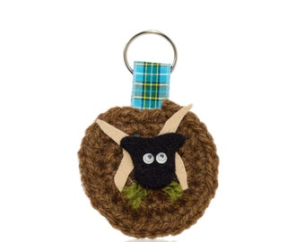 Manx Loaghtan Sheep Keyring