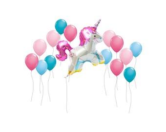 """Unicorn Balloon, Jumbo 38"""" Unicorn Balloon, Kids Party Balloon, Girls Birthday Party Balloon, Birthday Party Decor, Princess Party Decor"""