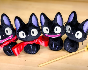 Jiji Plush Kitty Cat Kiki's Delivery Service Cute Adorable Tiny Studio Ghibli Soft Toy Doll Fanart