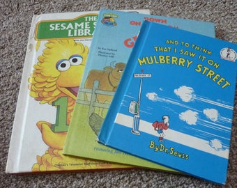 vintage  Sesame Street and Dr Seuss