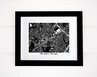 Chamblee Map, GA Map Print, Atlanta area map