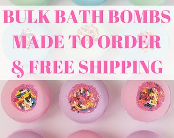 Bulk Bath Bombs | Made to order | Bridal Shower | Bachelorette Party | Baby Shower | Birthday | Party Favors | Gifts | FREE SHIPPING