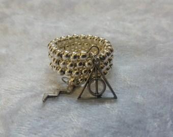 Harry potter themed memory ring, Harry potter gift. Harry potter ring