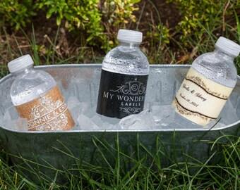 150 Custom water bottle labels