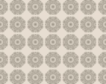 Gray Medallion Fabric - Riley Blake - Lost and Found