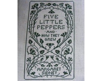 Five Little Peppers Book Cover Cross Stitch Pattern