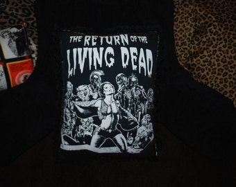 Return of the Living Dead B&W DIY Pillow w/ Lace