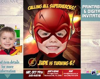 Flash Birthday Invitation. Turn your boy into The Flash. Flash Party Invitation. Flash Birthday Ideas. The Flash Party Ideas. 084