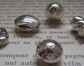 Silver resin set of 15 beads