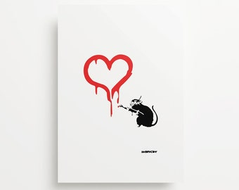 Banksy's Rat Loves Giclée Print