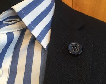 Mens Dark Blue Button lapel pin, Lapel pin man, Button lapel pin, Man lapel Button, Lapel pin, Lapel Button, Wedding, Dapper