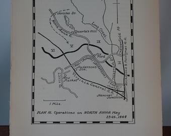 SET #4 - Vintage American Civil War Battle Plans - Maps  - Union - Confederate - Ulysses S Grant - Robert E Lee - Wall Art Decor -Print