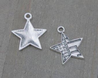 5 Pieces Stars and Stripes charm, Patriotic charm, July 4th charm, USA charm, Star charm, star pendant, US flag charm B33768