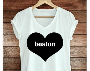Boston heart shirt