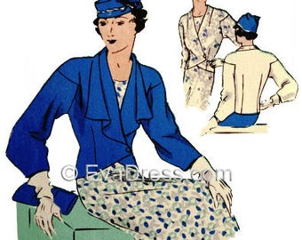 1933 Jackets, E-PATTERN by EvaDress!