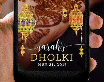 Lantern Dholki Mehndi Sangeet Indian Pakistani Wedding Snapchat Filter
