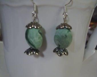 Green Easter Egg Earrings - Free Shipping