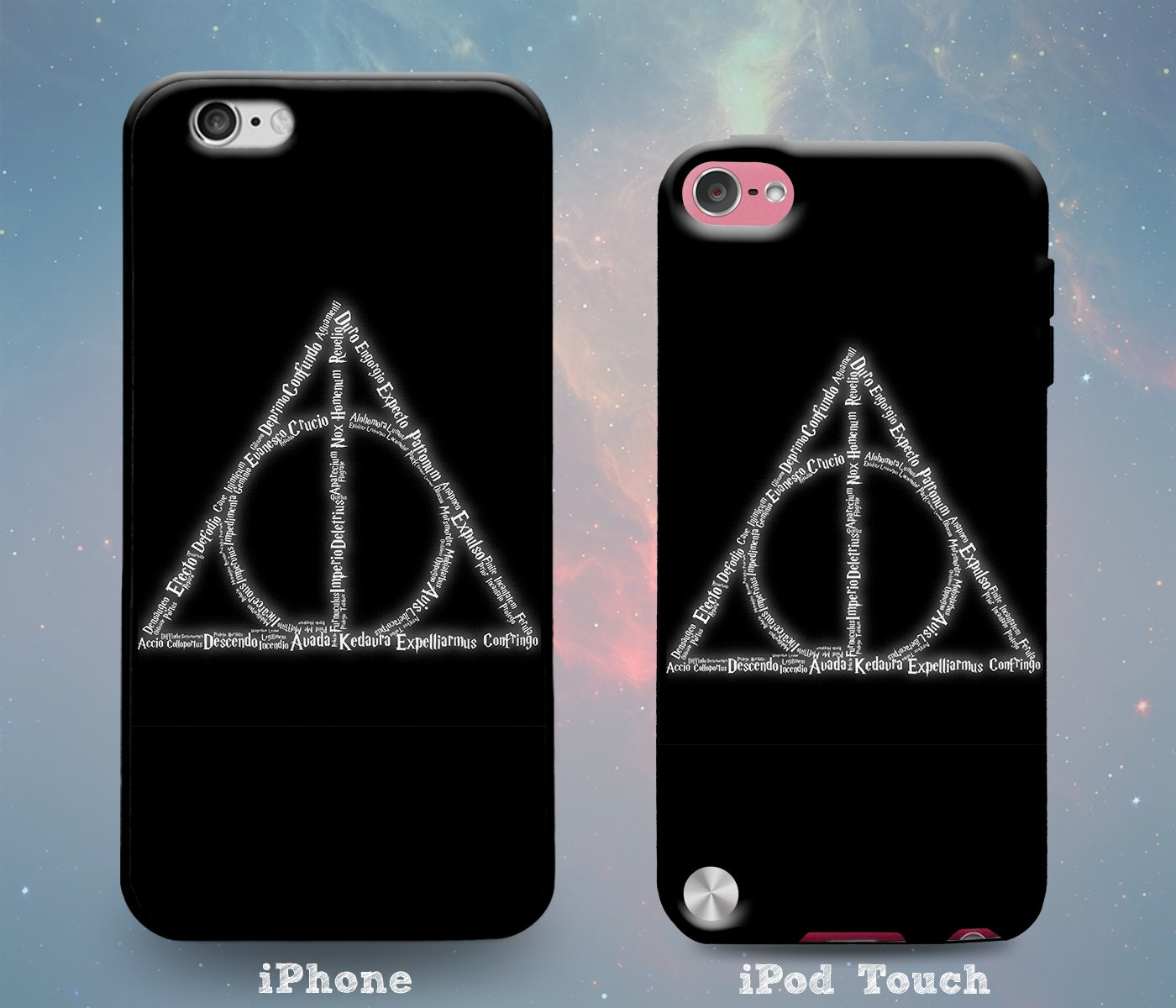 Deathly hallows symbol spells harry potter case for iphone x zoom biocorpaavc