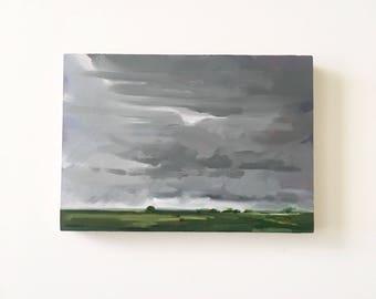 "Midday Rain • original oil painting 5x7"""