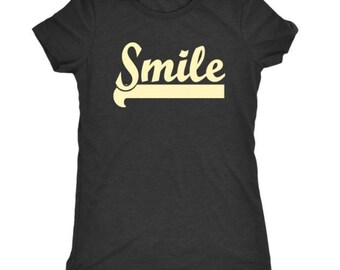 Smile Women's T-shirt, Happy Tee, Smile, soft, comfy