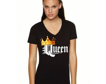 Queen- Woman Next Level Apparel Idea V Neck