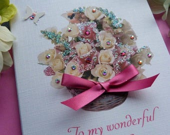 Handmade Personalised Birthday Card 16th 18th 21st 30th 40th 50th 100 Any Age and Relation