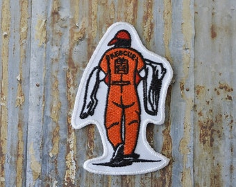 Rescue Man Damsel in Distress Woman Embroidered Iron On Or Sew On Patch