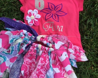 Flower Fabric tutu set