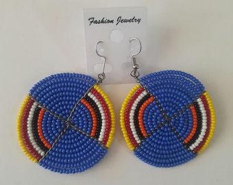 maasai earrings / colorful earrings / beaded earrings