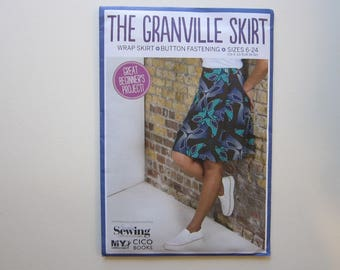 Simply Sewing pattern - The GRANVILLE SKIRT - wrap skirt, button fastening - sizes 6-24