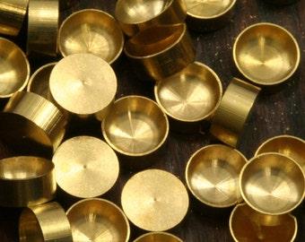 500 PCS Raw Brass 2-3-4-5-6 mm Pendant finding Setting 1541