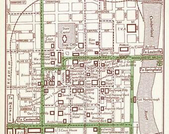 Nashville Map Art, Nashville Map Decor, Nashville Map Gift, Nashville Old Map, Nashville Print, Nashville Street Map, Nashville Tennessee
