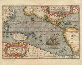 Pacifique, Ortelius, 1612