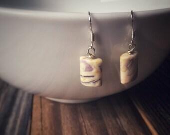 Purple Jasper Earrings
