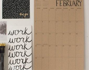 large kraft wall calendar - start any month