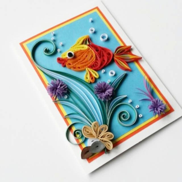 Fish greeting card birthday card for kids card for boy zoom bookmarktalkfo Image collections