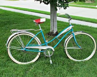 Vintage Bicycle | GORGEOUS Mid Century J. C. Higgins Flightliner Bicycle | Built-in Dual Headlight WORKS! | Perfect MCM Bike Cruiser