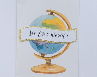 See the world with globe