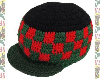 Knit Cap R-/65cm[Zion Brand]Rockers Styleee!! hat-B109 (Roots Reggae Rasta Jamaica Africa Ethiopia Dub Dread)