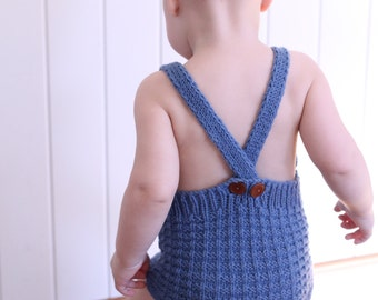 Baby romper knitting pattern download pdf - Theo romper - baby playsuit