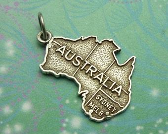 Vintage Sterling Silver Dangle Charm - Australia