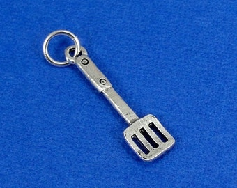 Spatula Charm - Silver Plated Kitchen Spatula Charm for Necklace or Bracelet